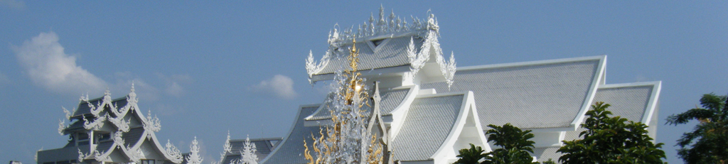 Picture of ancient ornate Thai rooftops